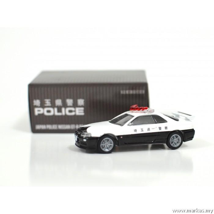 Tarmac Works X Greenlight 1/64 Nissan GTR R 34 Japan police