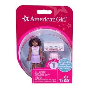 Mega Bloks American Girl White Top and Purple Skirt Mini Figure