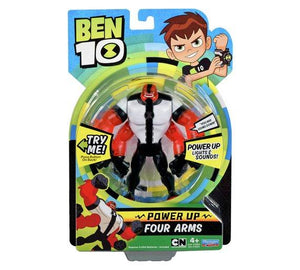 "Ben 10 6"" Deluxe Power Up Figures - Four Arms"