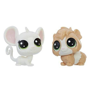 Littlest Pet Shop Zoe Housemouse and Fluffers Guinea