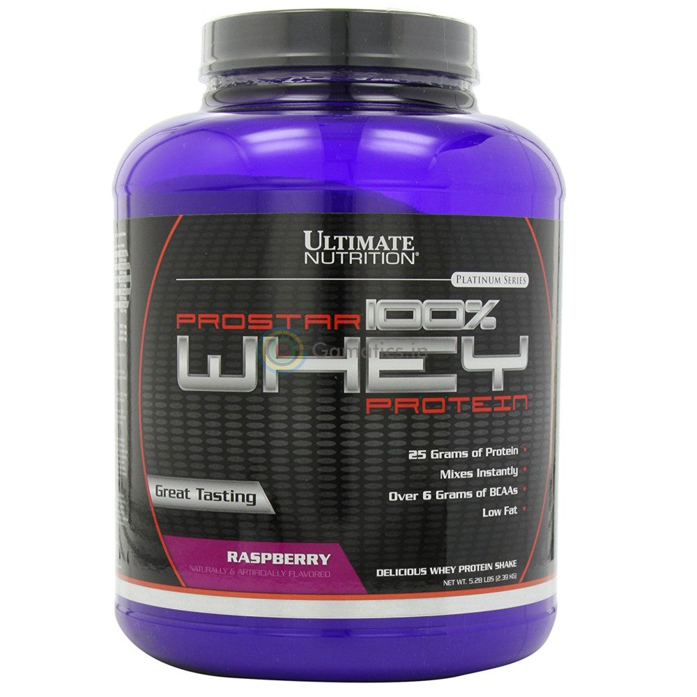Ultimate Nutrition Prostar 100% Whey Protein, 5.28 lb Raspberry