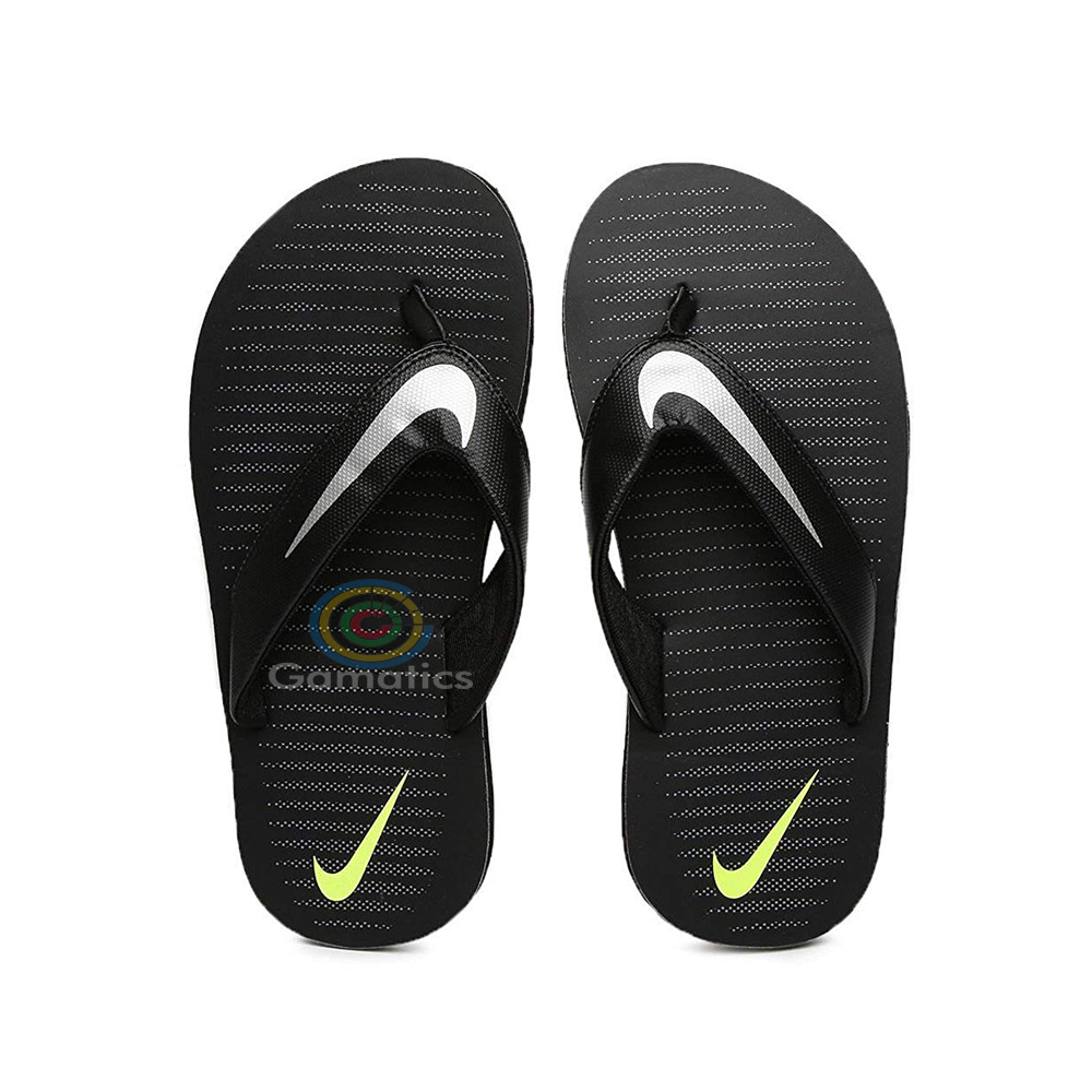 Nike Men's Chroma Thong 5 Flip Flops Thong Sandals (Black)
