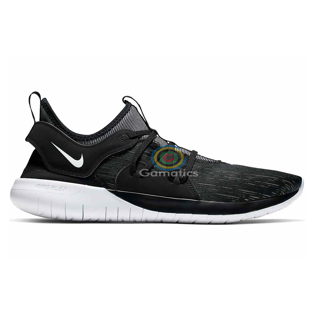 Nike Men's Flex Contact 3 Running Shoes (Black/White)