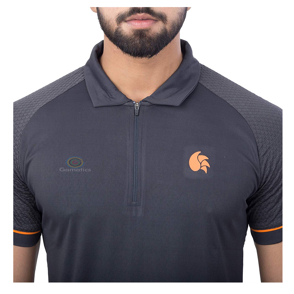 DSC Men's Cricket T-Shirt (Half Zipper Polo)