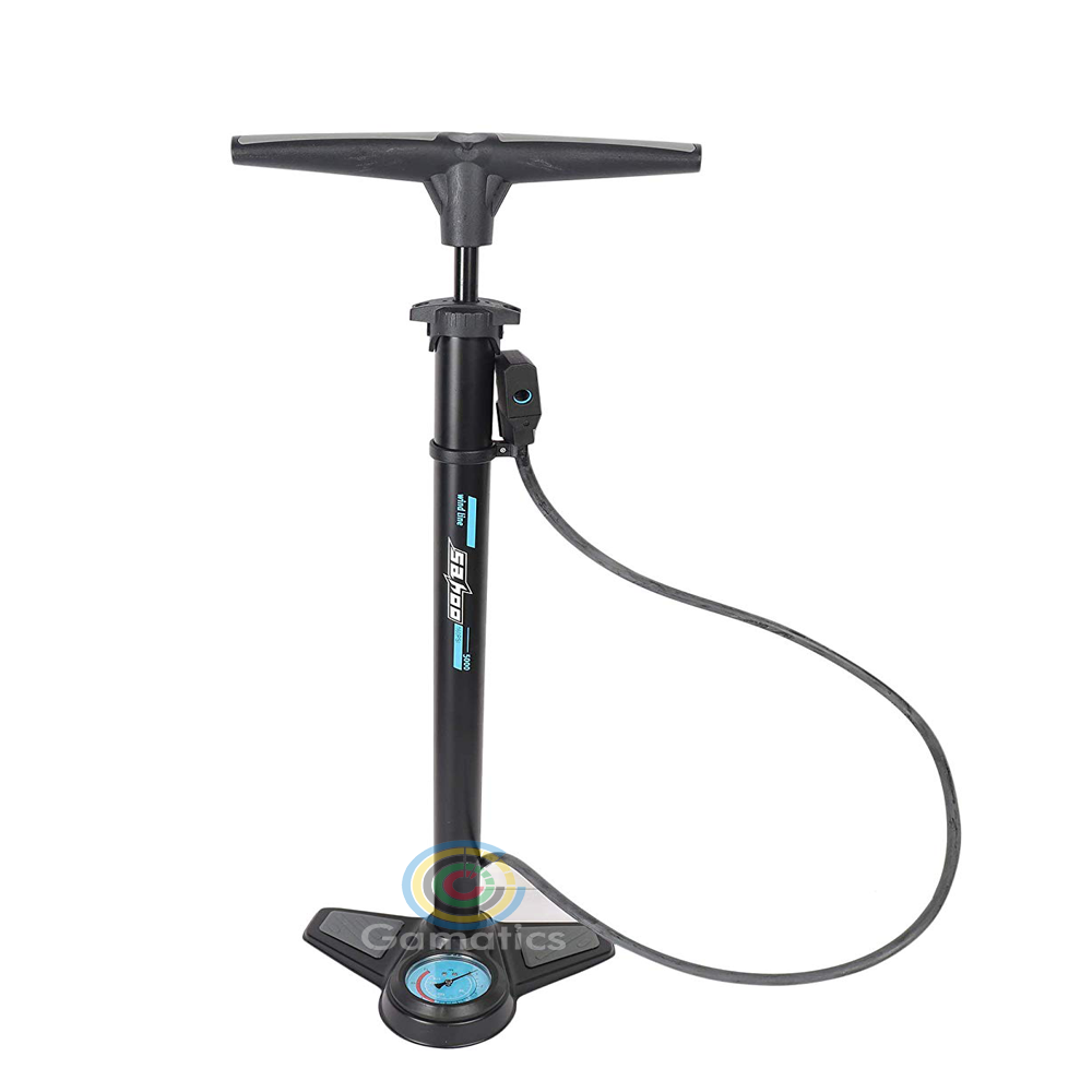 Roswheel Portable Foot Activated Floor Bicycle Air Pump with Pressure Gauge