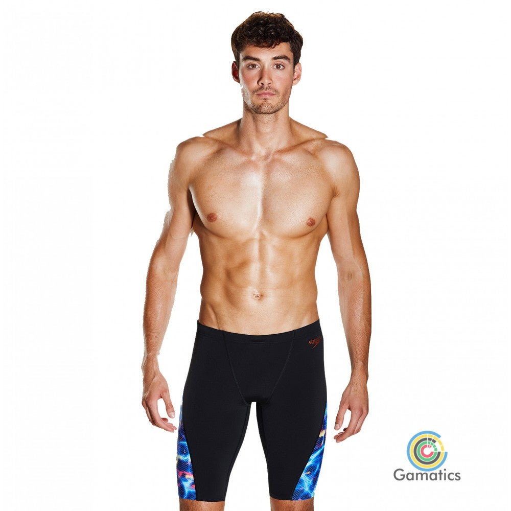 Speedo Men's Storm Wave Allover Digital V Pannel Jammer