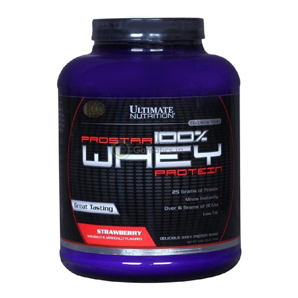 Ultimate Nutrition Prostar 100% Whey Protein, 5.28 lb Strawberry