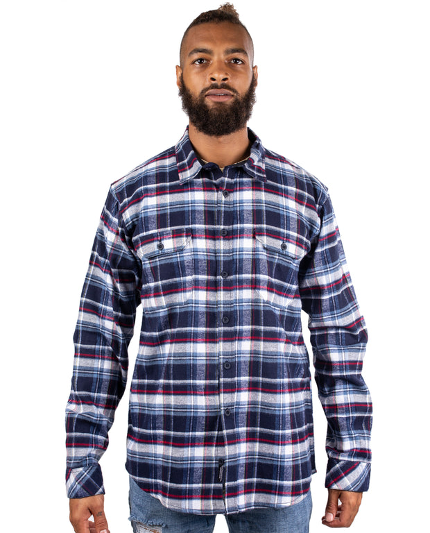 GIGAWATT MENS PLAID FLANNEL
