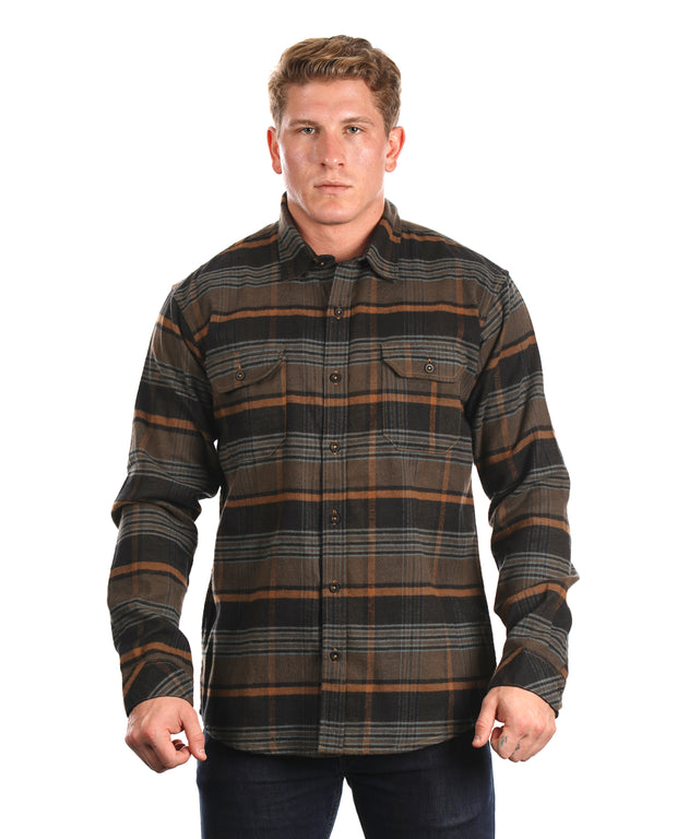 MARS MENS PLAID FLANNEL