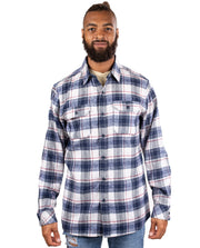 SANDMAN MENS PLAID FLANNEL