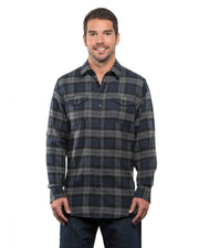 B8210 - Mens Plaid Flannel Shirts - Navy