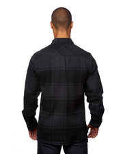 B8219 - Mens Snap Flannel Shirts - Black
