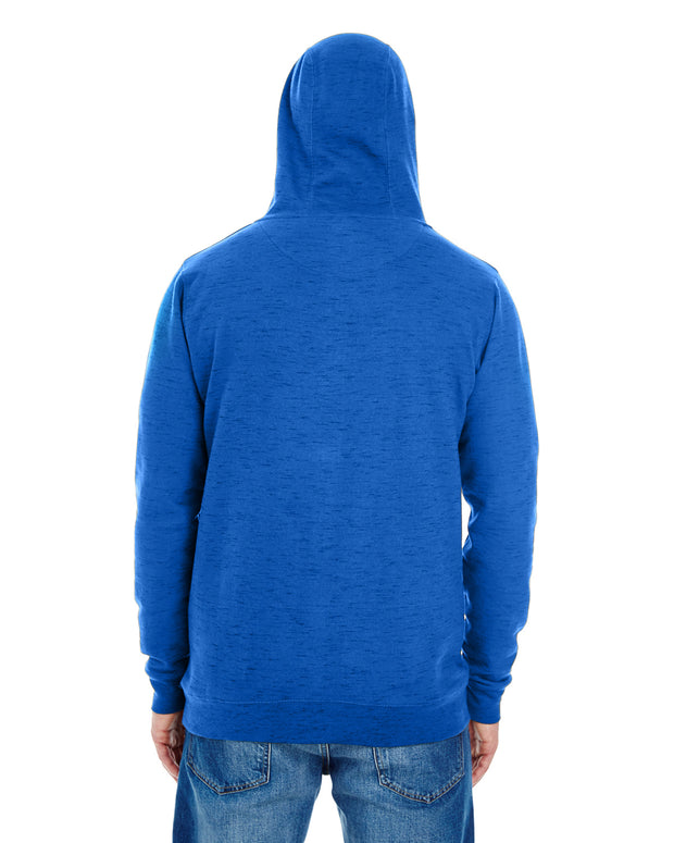 B8609 - Mens Yarn Dyed Hoodies - Blue