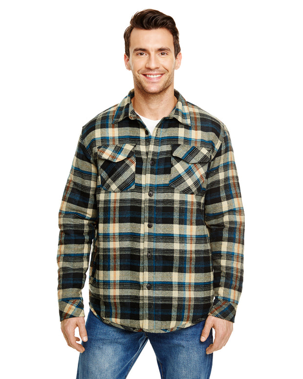 B8610 - Mens Quilted Flannel Jackets - Khaki