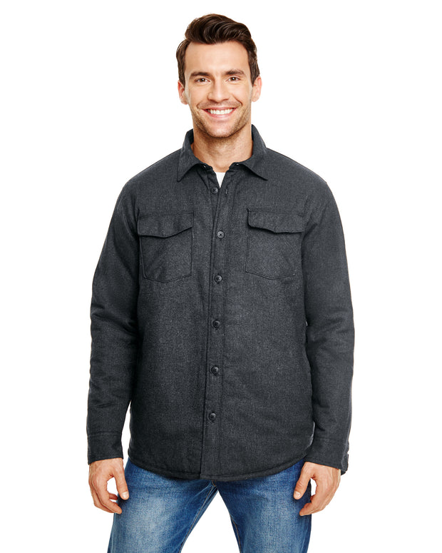 B8610 - Mens Quilted Flannel Jackets - Charcoal
