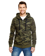 B8615 - Mens Camo Hoodies - Green