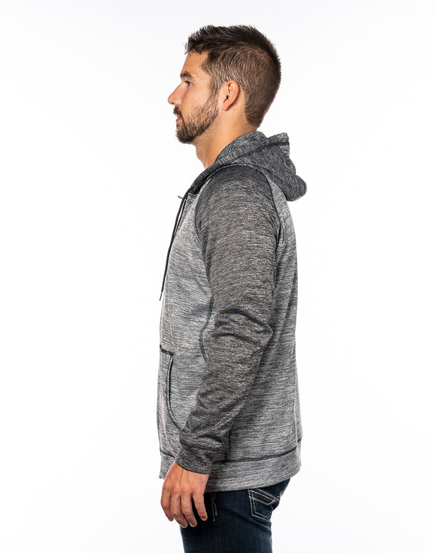B8660 - Mens Performance Hoodies - Heather Grey/Heather Charcoal