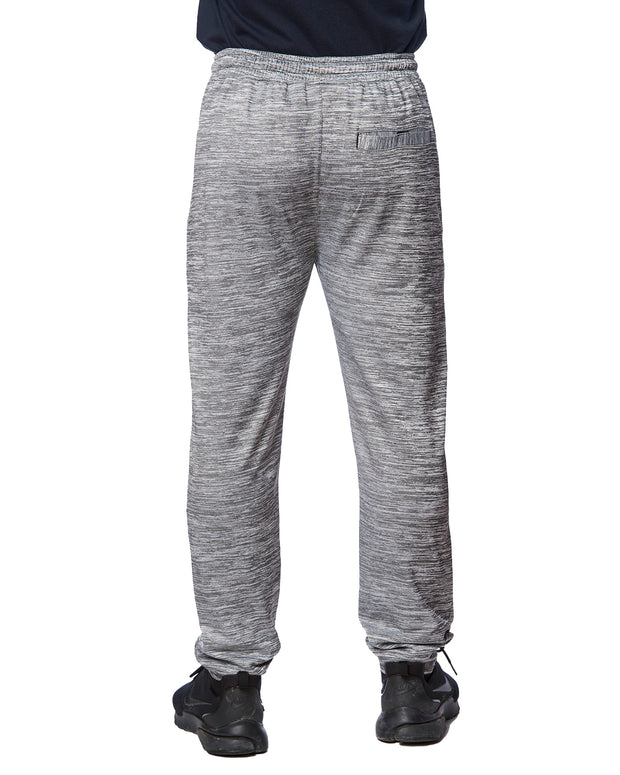 B8801 - Heather Performance Joggers - Heather Grey