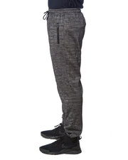 B8801 - Heather Performance Joggers - Heather Charcoal