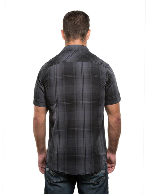 B9206 - Mens Short Sleeve Western Plaids - Black