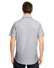 B9247 - Mens Short Sleeve Texture Woven - Black