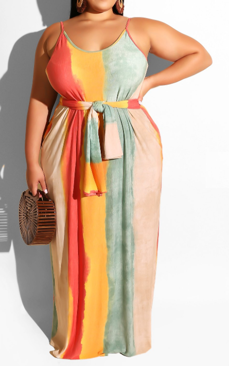 Spring Throws a Curve Ball Maxi Dress (Curvy) | Rugged Rose Boutique