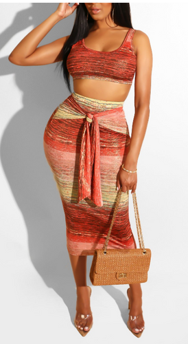 Mars and Jupiter Crop Top Two Piece Set | Rugged Rose Boutique