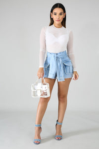 Trim Denim Raw Shorts | Rugged Rose Boutique