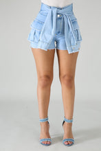 Load image into Gallery viewer, Trim Denim Raw Shorts | Rugged Rose Boutique