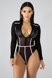Sporty Sheer Bodysuit | Rugged Rose Boutique