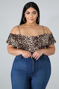 Ruffle Cheetah Bodysuit  | Rugged Rose Boutique