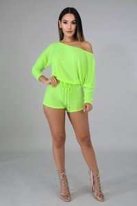 Knit Neon Romper  | Rugged Rose Boutique