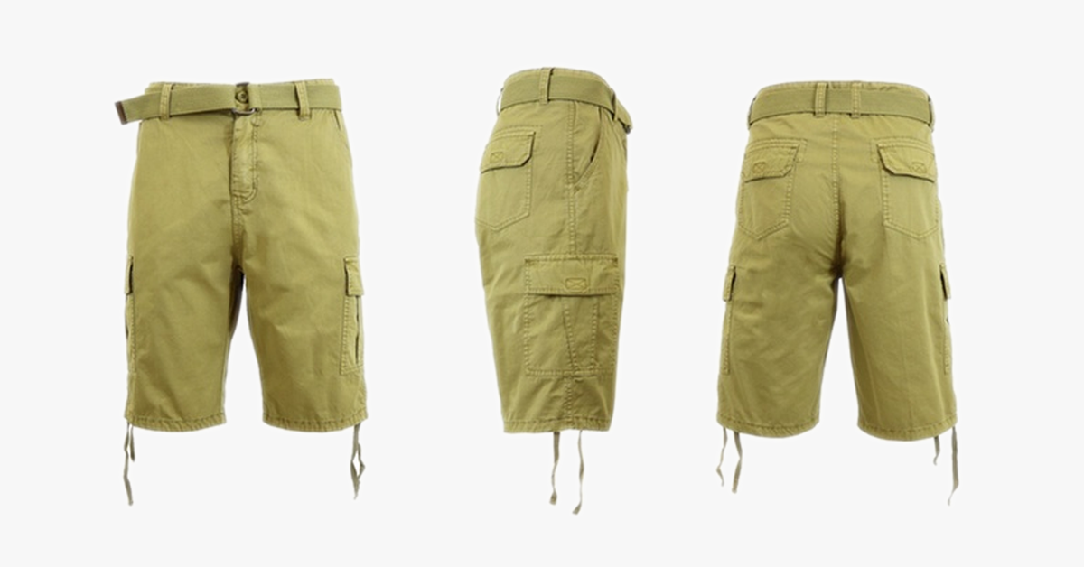 Belted Slim-fit Cargo Shorts