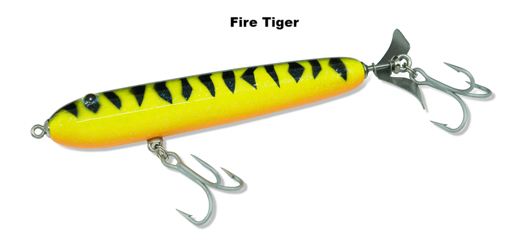 5.5 inch RipRoller fishing lure in Fire Tiger
