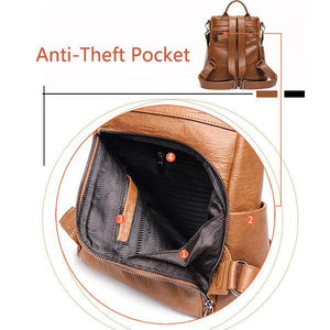 New Fashion Soft Leather Anti-theft Tide Street Backpack