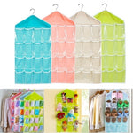 Large Capacity 16 Grids Wardrobe Hanging Organizer Bras Socks Storage Bag