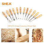 【2019 HOT SALE!!】12PCS Wood Carving Tools