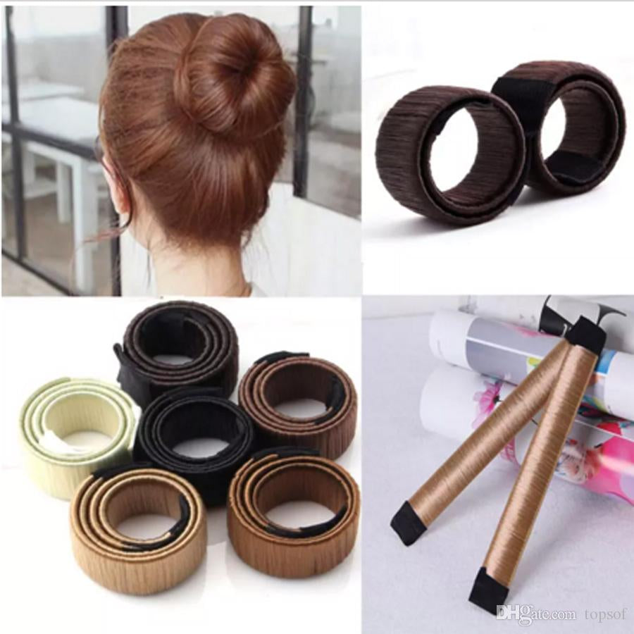 Hair Styling Donut Former Foam French Twist Bun Maker Tool