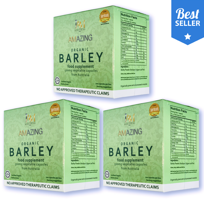 3 BOXES of AMAZING PURE ORGANIC BARLEY CAPSULE