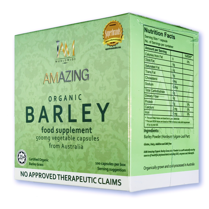 Amazing Pure Barley Capsule (Vegetable Capsules)