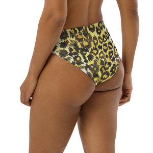 Recycled high-waisted bikini bottom