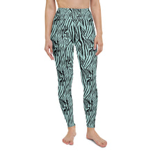 Load image into Gallery viewer, Aquamarine Zebra High Waisted Leggings