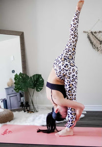Pink Leopard Print High Waisted Leggings