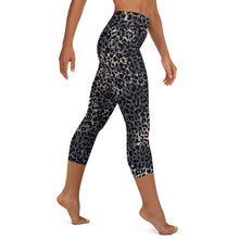 Load image into Gallery viewer, Lula Activewear Dark Leopard Print High Waisted Capri Pants