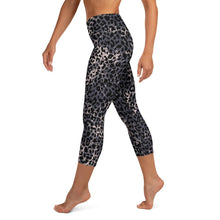 Load image into Gallery viewer, Lula Activewear Dark Leopard Print High Waisted Yoga Capri Leggings