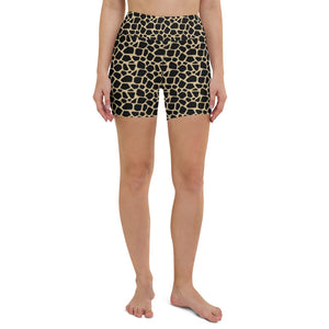 Giraffe high waisted booty shorts