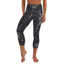 Load image into Gallery viewer, Lula Activewear Dark Leopard Print High Waisted Capri Yoga Leggings