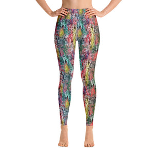 Rainbow Snakeskin High Waisted Yoga, Dance, Running, Gym Leggings, tights