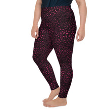 Load image into Gallery viewer, Burgundy Leopard Print Plus Size Leggings
