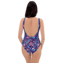 Load image into Gallery viewer, Blue Paisley One-Piece Swimsuit